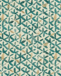 Yellow Shades Of Teal Fabric Charlotte Fabrics CB800-128