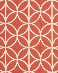White Shades Of Coral Fabric Charlotte Fabrics CB800-92