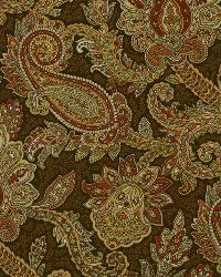 Yellow Classic Paisley Fabric  English Manor Saffron
