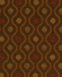 Orange Trellis Diamond Fabric  Curvy Dots Sienna