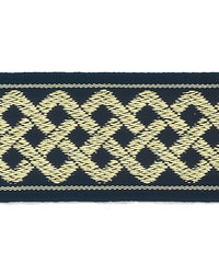 Blue Gimp Trim  Aiden Border Navy