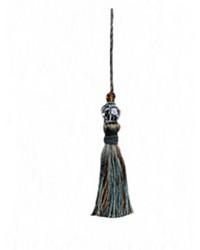 Alchemy Key Tassel Turquoise by  Robert Allen Trim