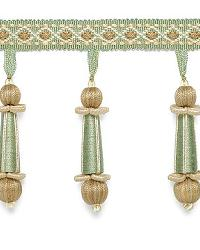 Addington Molded Tassel Fringe Mineral by  Schumacher Trim