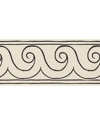 Greek Waves Trim Black On Ivory by