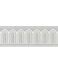 Arches Embroidered Tape Sky by  Schumacher Trim