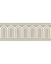 Arches Embroidered Tape Taupe by  Schumacher Trim