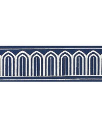 Arches Embroidered Tape Marine by  Schumacher Trim