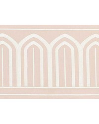 Arches Embroidered Tape Wide Blush by  Schumacher Trim