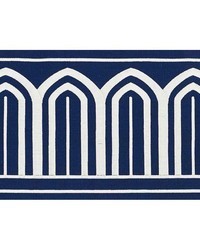Arches Embroidered Tape Wide Marine by  Schumacher Trim