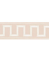 Greek Key Embroidered Tape Blush by