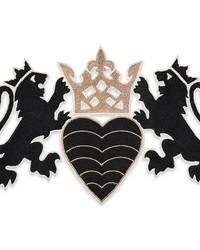 Lionheart Applique Black & Gold by