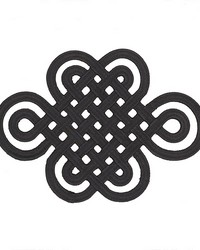 Good Luck Knot Applique Black by