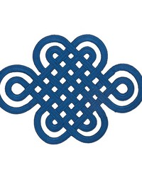Good Luck Knot Applique Sapphire by