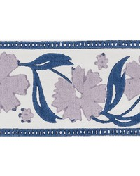 Adra Hand Blocked Tape Lilac & Blue by  Schumacher Trim