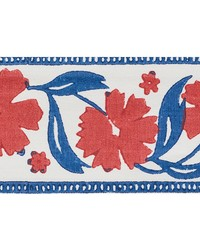 Adra Hand Blocked Tape Red & Blue by  Schumacher Trim