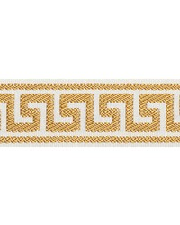 Etienne Silk Greek Key Narrow Gold by