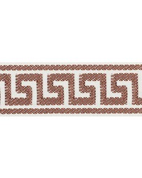 Etienne Silk Greek Key Narrow Brown by