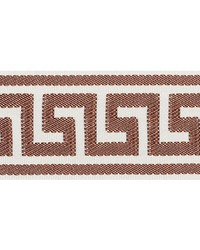 Etienne Silk Greek Key Brown by