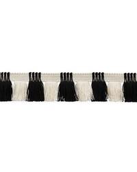 Juno Fringe Black & Ivory by