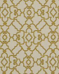 Trellis Diamond Fabric  Scroll Maze Honeysuckle