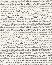 Waves Black  White by  Schumacher Wallpaper