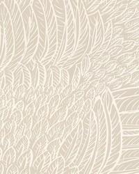 Featherfest Natural by  Schumacher Wallpaper