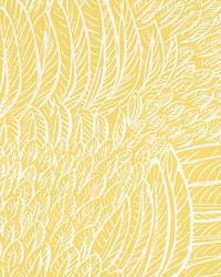 Featherfest Citron by  Schumacher Wallpaper