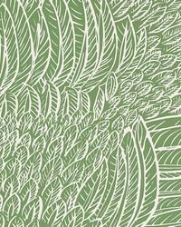 Featherfest Leaf by  Schumacher Wallpaper