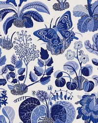 Exotic Butterfly Marine by  Schumacher Wallpaper