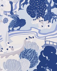 Pearl River Blues by  Schumacher Wallpaper