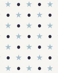 Etoiles Et Points Blues by