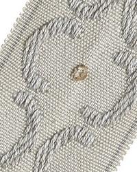 Silver Fabric Trim Border  01872 Platinum