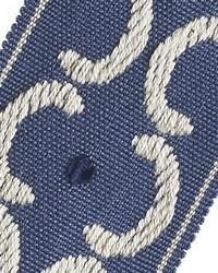 Blue Fabric Trim Border  01872 Aegean