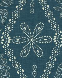 Floral Diamond Fabric  Sunny Site Cornflower