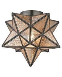 Moravian Star Flush Mount - Bronze by