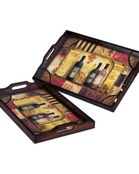 Set Of 2 Trays by