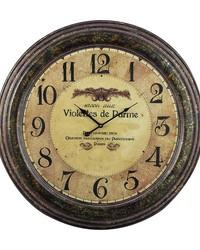 Violettes De Parme Clock by