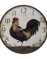 Rooster Wall Clock by