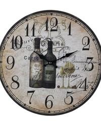 Wine Bottles Wall Clock by