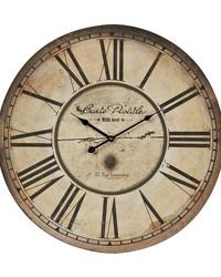 Carte Postal Clock With Antique Cream Metal Frame by