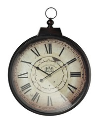 Chateau Renier Clock With Bronze Metal Frame by