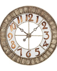 Round Metal Outdoor Wall Clock by