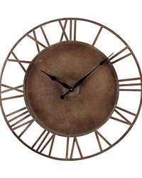 Metal Roman Numeral Outdoor Wall Clock Parity Bronze by