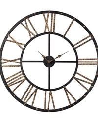 Metal Framed Roman Numeral Open Back Wall Clock by