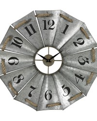 Aluminum And Rope Wall Clock by