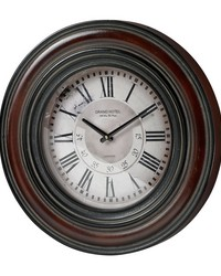 Large Clock With Distressed Hand painted Frame Railroad by