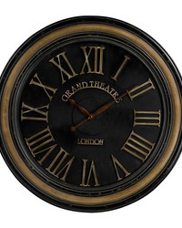 Large Clock With Distressed Hand painted Frame Berkshire by