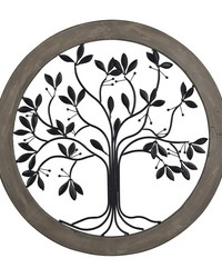 Rossington-Circular Wall Panel With Tree Of Life by