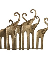 Papillion-Elephant Herd In Gold Leaf by