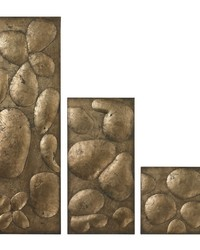Ramsey Set Of 3 Wall Panels In Gold Leaf by